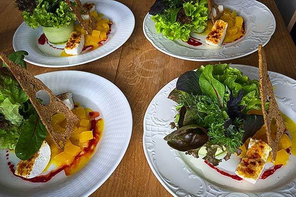 Sinnesfreunde Catering München Ausstattung Geschirr Gläser Speisen Food