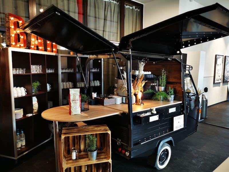 Sinnesfreunde Catering München Bar Kaffee Ape Dekoration Fullservice
