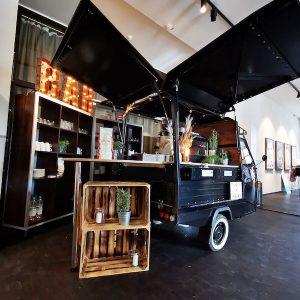 Sinnesfreunde Catering München Kaffee Ape Dekoration Vintage Bar