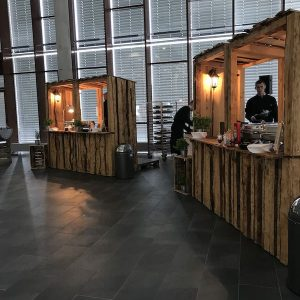 Sinnesfreunde Catering München Marktstand Dekoration Speisen Buffet