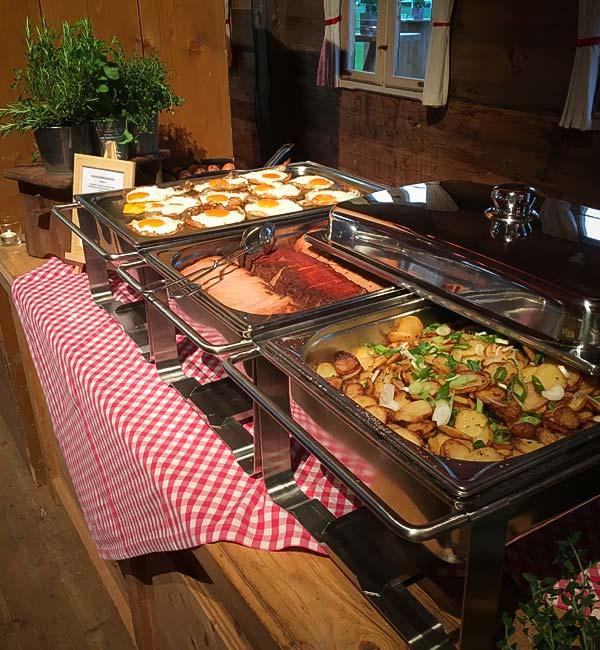 Sinnesfreunde Catering München Buffet Speisen Alm Privat