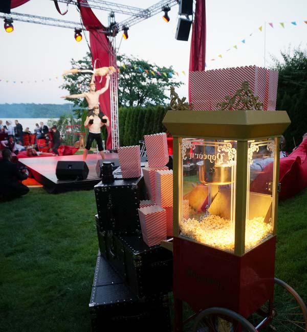 Sinnesfreunde Catering München Popcorn Ausstattung Privat Garten Party
