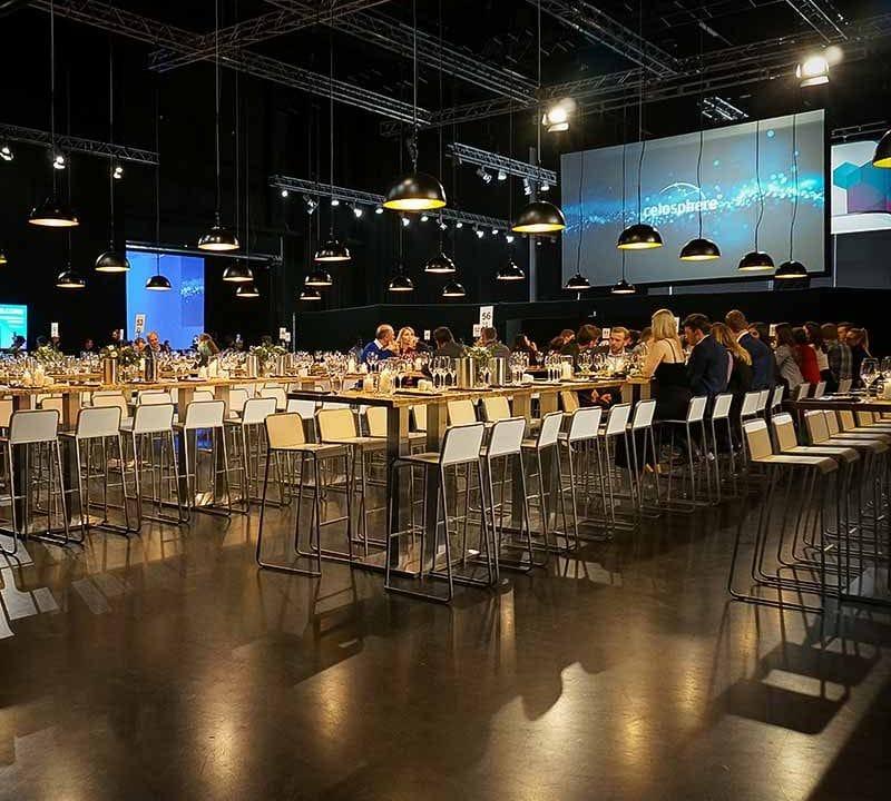 Sinnesfreunde Catering München Business Event Mobiliar Großveranstaltung Dekoration