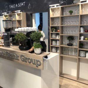 Sinnesfreunde Catering München Messe Expo Real Siebträgermaschine Bar Kaffee