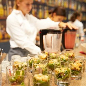 Sinnesfreunde Catering München Messe Expo Real Fingerfood Speisen Service Personal Bar