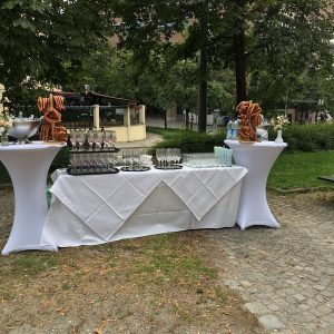 Sinnesfreunde Catering München Privat Hochzeit Sektempfang Mobiliar