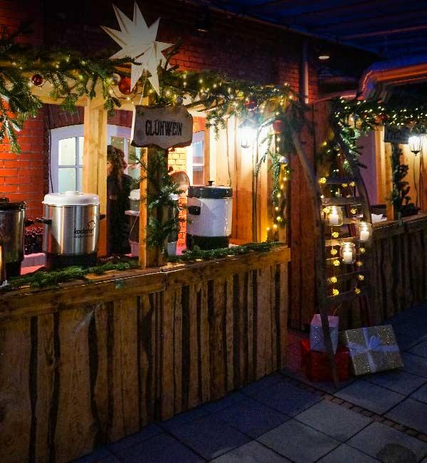 Sinnesfreunde Catering München Weihnachtsfeier Glühwein Marktstand