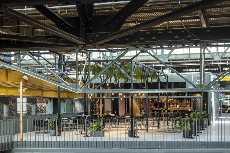 HIGH LINE Event-Location Gesamt-Ansicht MotorWelt München Sinnesfreunde Catering